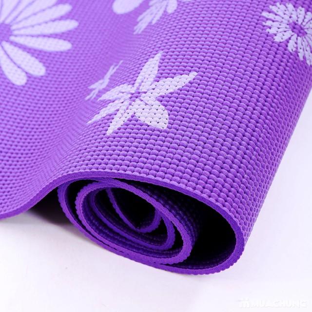 Thảm tập yoga họa tiết có túi đựng - 19
