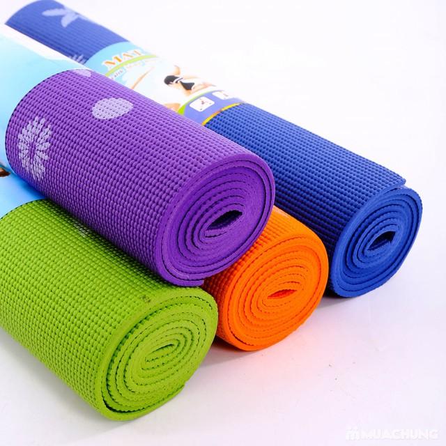 Thảm tập yoga họa tiết có túi đựng - 16