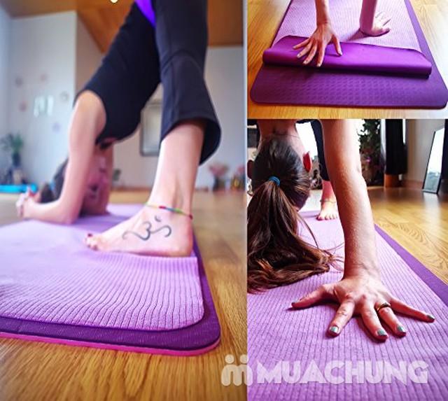 Khăn trải thảm tập Yoga phủ hạt cao su non - 1