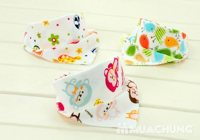 5 khăn yếm tam giác 2 lớp chất cotton mềm mịn    - 8