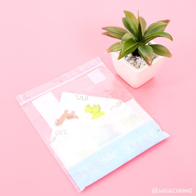 5 khăn yếm tam giác 2 lớp chất cotton mềm mịn    - 17