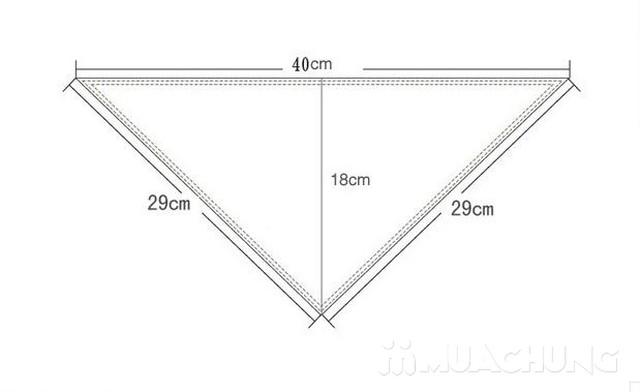 5 khăn yếm tam giác 2 lớp chất cotton mềm mịn    - 10
