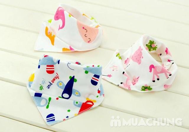 5 khăn yếm tam giác 2 lớp chất cotton mềm mịn    - 7