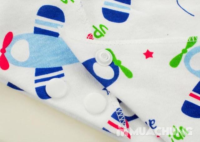 5 khăn yếm tam giác 2 lớp chất cotton mềm mịn    - 9