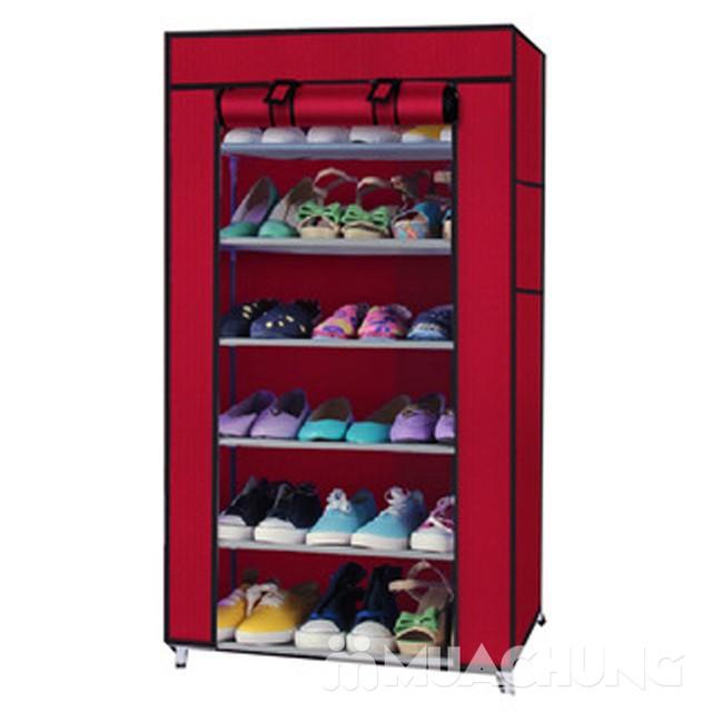 Tủ giầy bọc vải 6 tầng tiện dụng cho mọi gia đình - 5