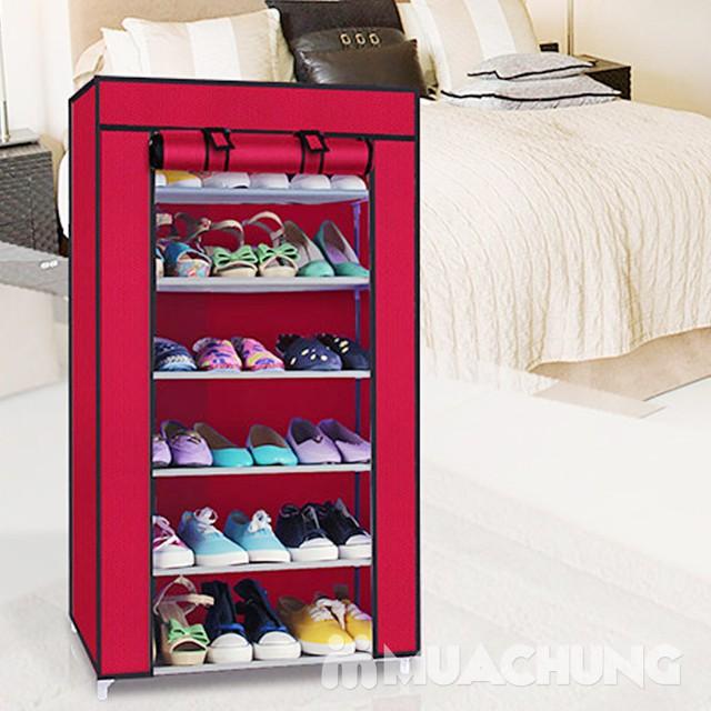 Tủ giầy bọc vải 6 tầng tiện dụng cho mọi gia đình - 1