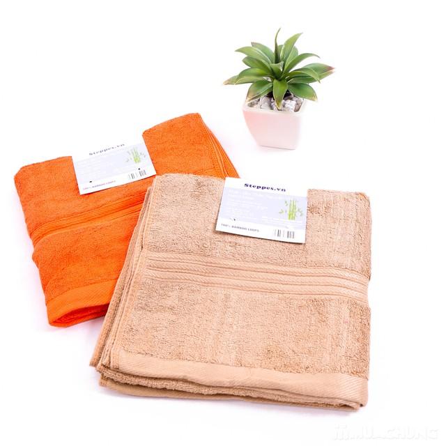 Combo 2 khăn tắm sợi tre tự nhiên siêu mềm mịn - 5