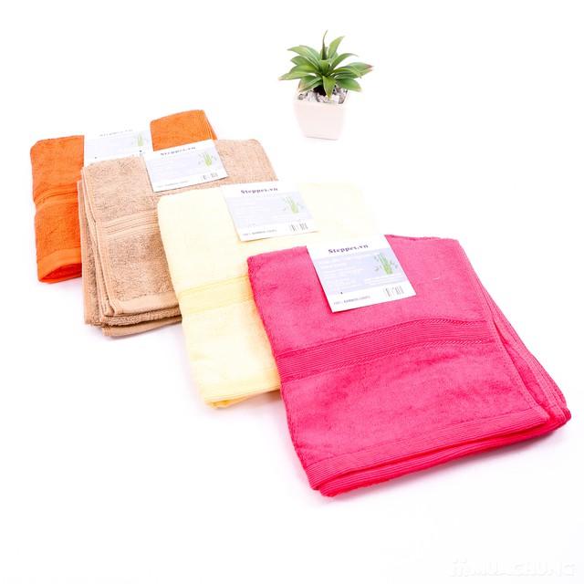 Combo 2 khăn tắm sợi tre tự nhiên siêu mềm mịn - 1