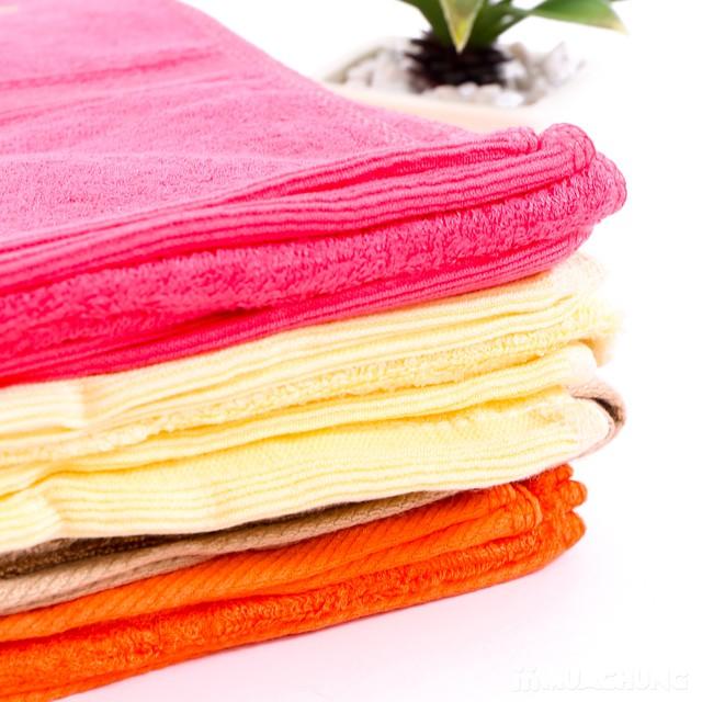 Combo 2 khăn tắm sợi tre tự nhiên siêu mềm mịn - 7