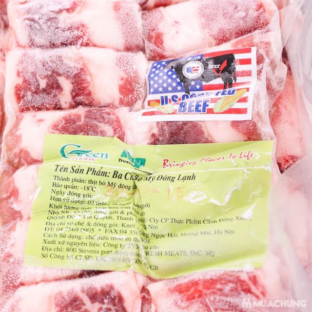 1kg thịt bò ba chỉ - Nhập khẩu Mỹ - 2