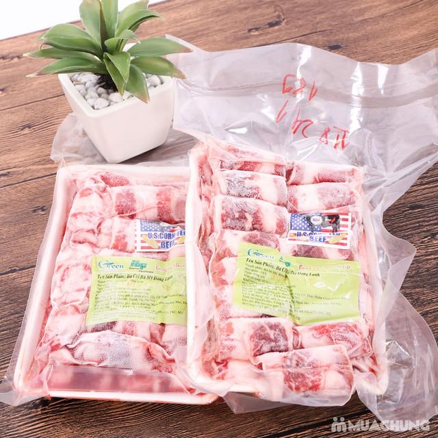 1kg thịt bò ba chỉ - Nhập khẩu Mỹ - 1