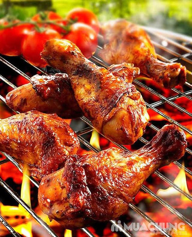 Bếp nướng than hoa inox kèm vỉ nướng size 31cm - 6