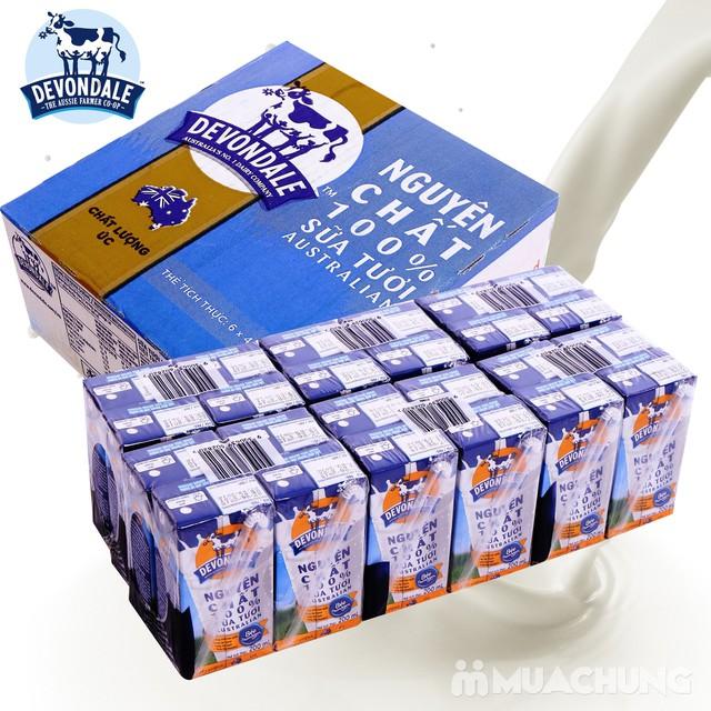 1 thùng/24 hộp sữa tươi nguyên chất Devondale - 5