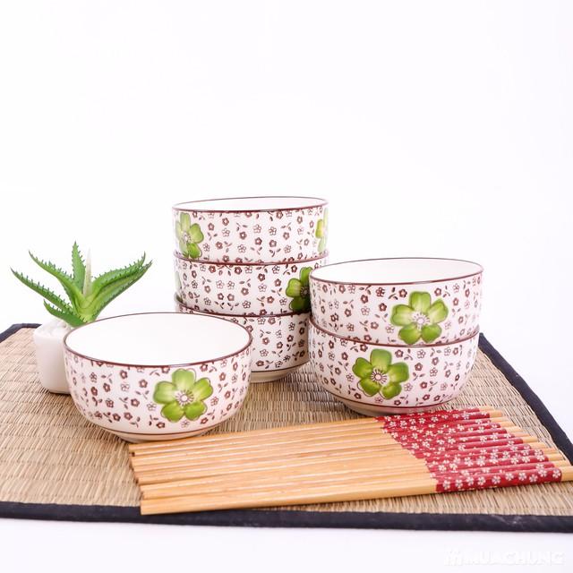 Bộ 6 bát ăn cơm & đũa cao cấp - Hàng xuất Nhật - 12