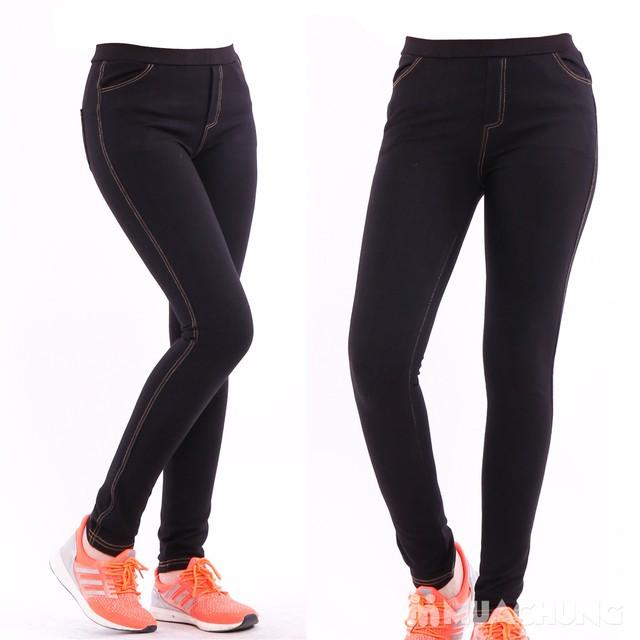Quần legging giả jean thời trang - 1