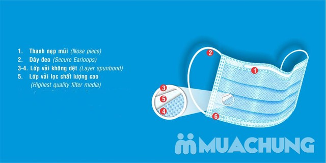 3 hộp khẩu trang y tế 3 lớp - ngừa vi khuẩn - 14