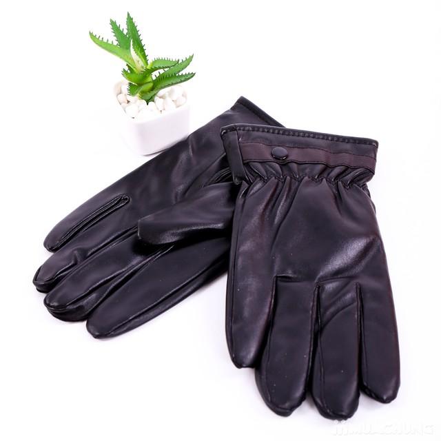 Găng tay da nam lót lông bền đẹp, thời trang - 1