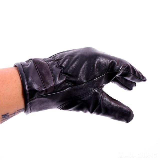 Găng tay da nam lót lông bền đẹp, thời trang - 8