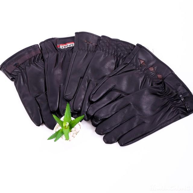 Găng tay da nam lót lông bền đẹp, thời trang - 13