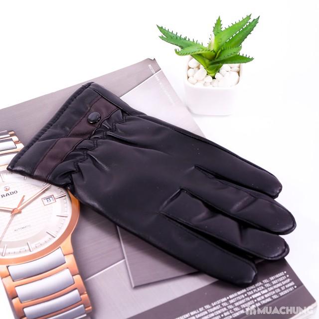Găng tay da nam lót lông bền đẹp, thời trang - 7