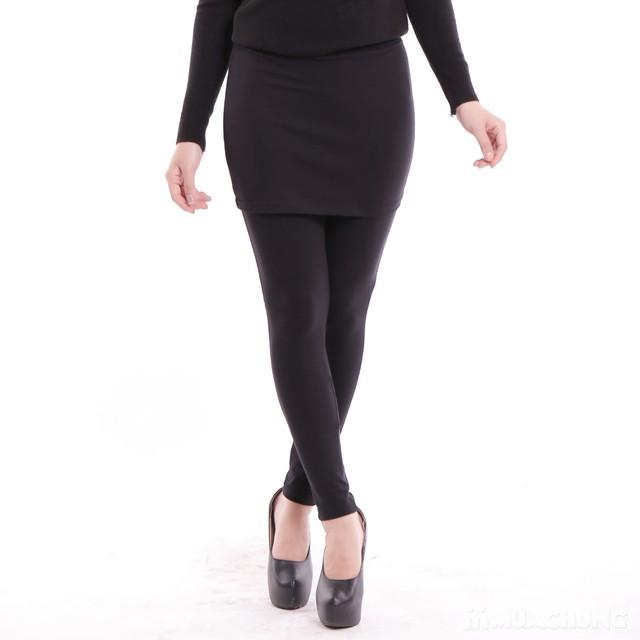 Quần legging giả váy trẻ trung 100% cotton  - 12