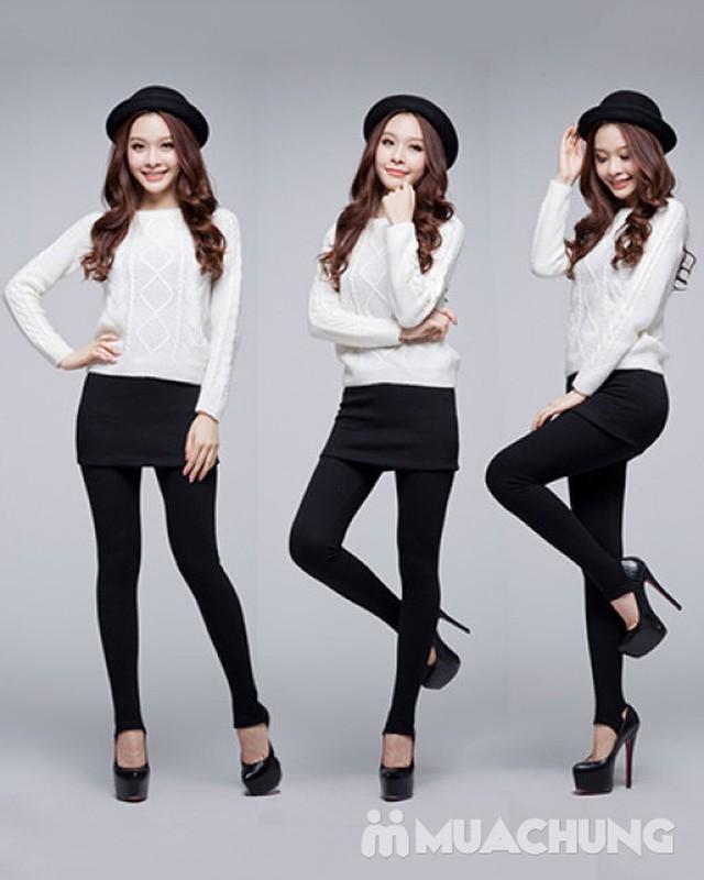 quần legging giả váy 100% cotton - 2