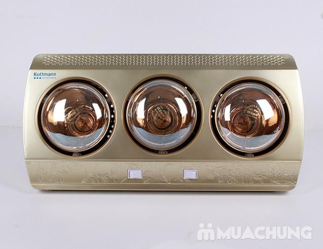 Đèn sưởi nhà tắm Kottmann 3 bóng dòng vàng (bảo hành 3 năm) - 7