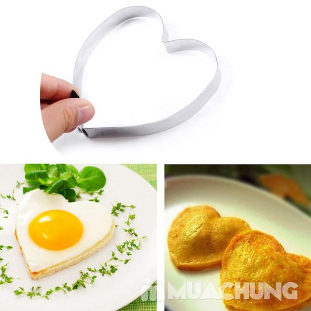 4 Khuôn inox cao cấp chiên trứng và làm bánh, nhiều hình dạng xinh xắn như ngôi sao, trái tim, hình tròn, hoa... - 13