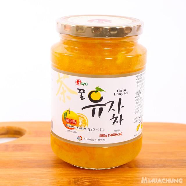 Mật ong chanh Hàn Quốc lọ 580g, tốt cho sức khỏe - 4