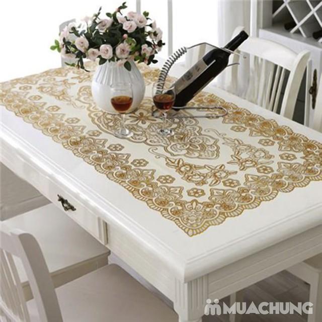 Combo 2 khăn trải bàn dập hoa nổi sang trọng - 34