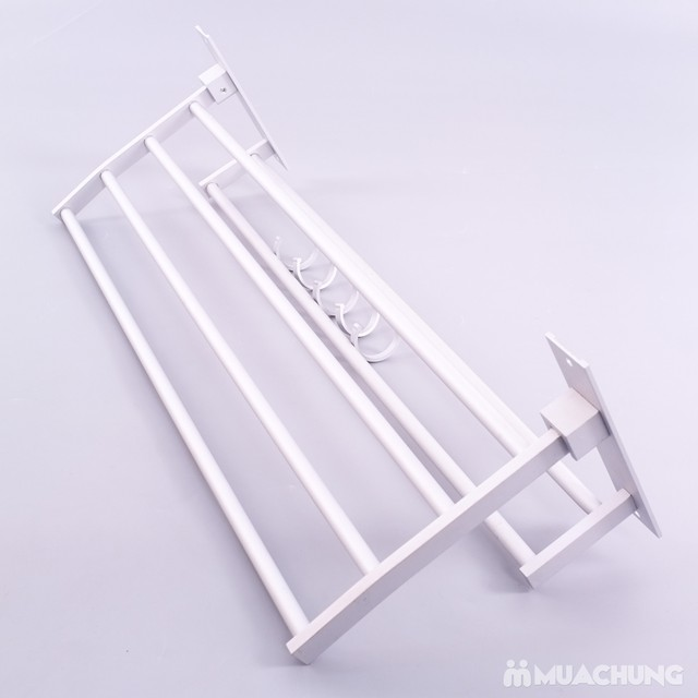 Giàn treo khăn 2 tầng cao cấp có móc treo - 3