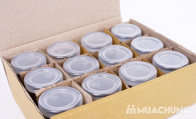 Bộ 12 cốc làm sữa chua thủy tinh họa tiết đáng yêu - 1