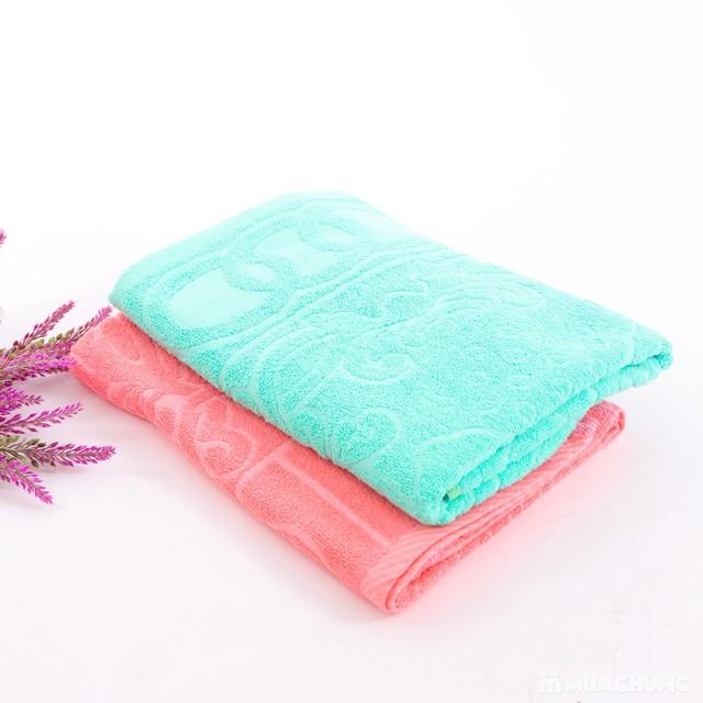 Combo 2 khăn bông tắm cỡ lớn 60cmx120cm - 9
