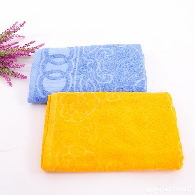Combo 2 khăn bông tắm cỡ lớn 60cmx120cm - 8