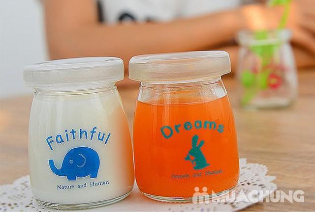 Bộ 12 cốc làm sữa chua thủy tinh họa tiết đáng yêu - 7