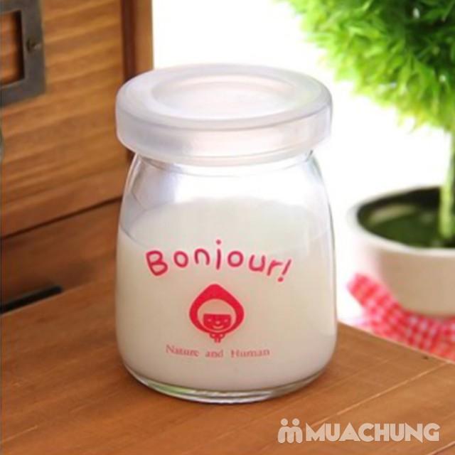 Bộ 12 cốc làm sữa chua thủy tinh họa tiết đáng yêu - 9