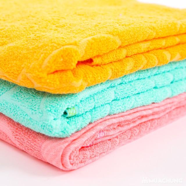 Combo 2 khăn bông tắm cỡ lớn 60cmx120cm - 6