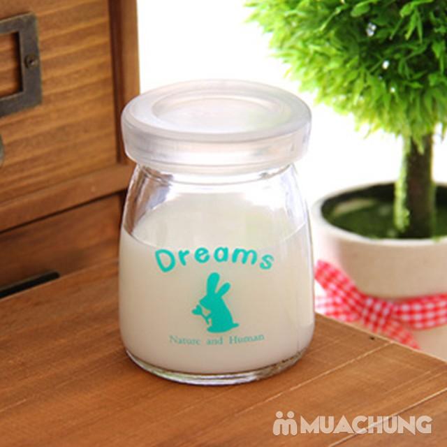 Bộ 12 cốc làm sữa chua thủy tinh họa tiết đáng yêu - 8