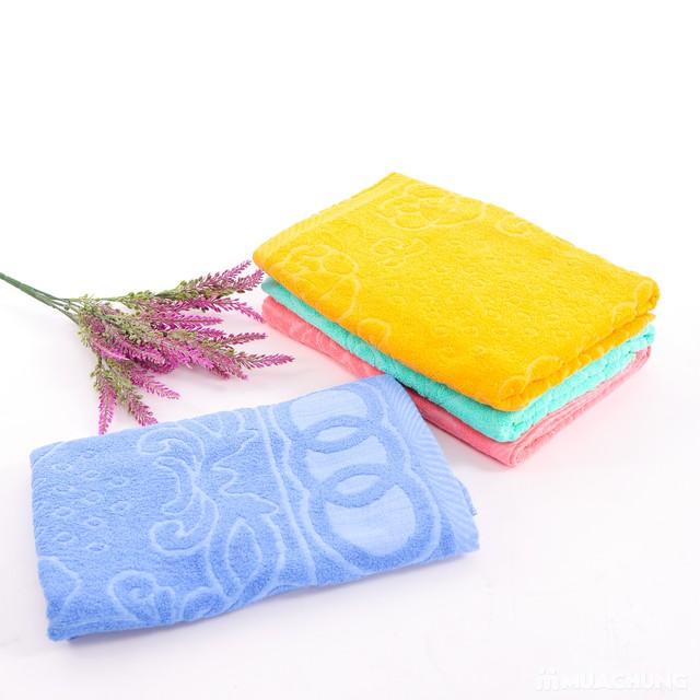 Combo 2 khăn bông tắm cỡ lớn 60cmx120cm - 4