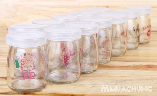 Bộ 12 cốc làm sữa chua thủy tinh họa tiết đáng yêu - 4