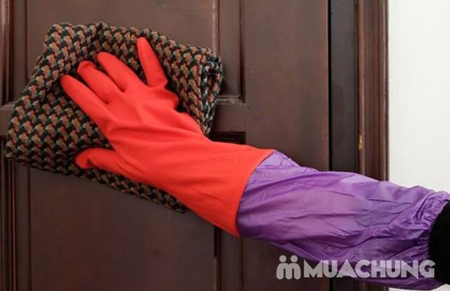 Combo 3 găng tay cao su rửa bát, giặt đồ... lót nỉ - 11