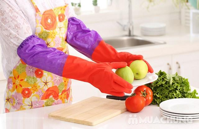 Combo 3 găng tay cao su rửa bát, giặt đồ... lót nỉ - 9