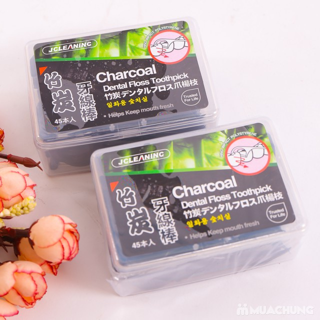 2 hộp tăm chỉ nha khoa Hàn Quốc bảo vệ răng miệng - 3