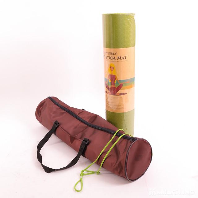 Thảm tập Yoga dày 8mm chống trơn kèm túi đựng - 13