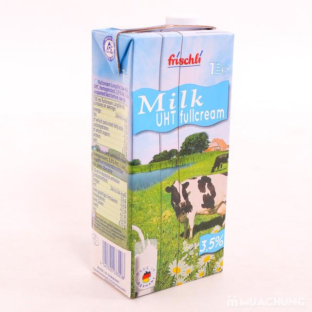 1 thùng 12 hộp sữa Frischli nguyên kem loại 1L - 8