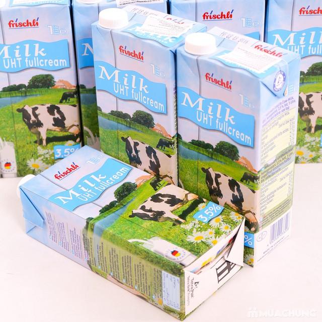 1 thùng 12 hộp sữa Frischli nguyên kem loại 1L - 9