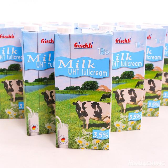 1 thùng 12 hộp sữa Frischli nguyên kem loại 1L - 11