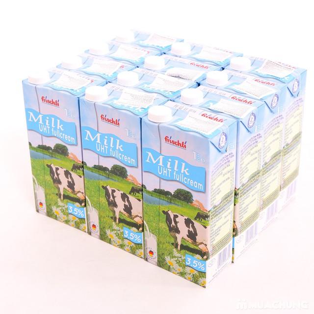 1 thùng 12 hộp sữa Frischli nguyên kem loại 1L - 6