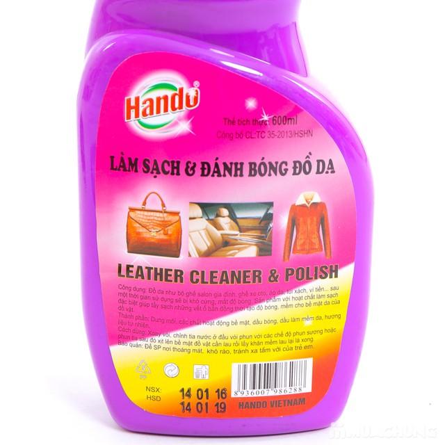 Xịt làm sạch và đánh bóng đồ da Hando - 5