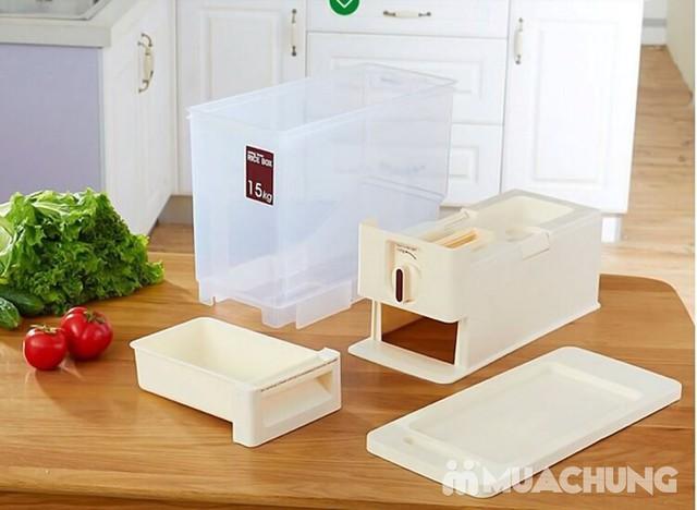 Thùng đựng gạo thông minh Dispenser 15kg - 15
